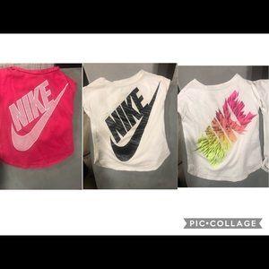 3 girls Nike t shirts